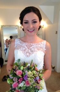 Pretty wedding hair and makeup