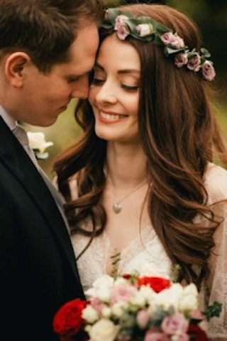 English Rose soft bridal hair and makeup