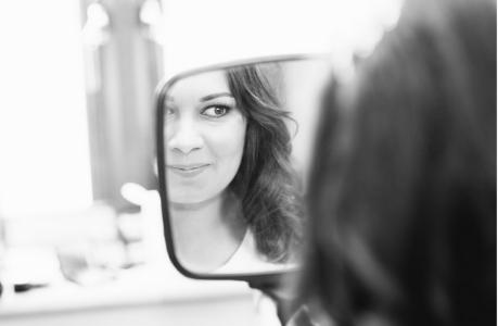 Bride makeup mirror