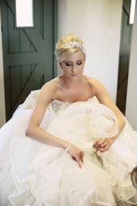 Striking bridal hair and makeup