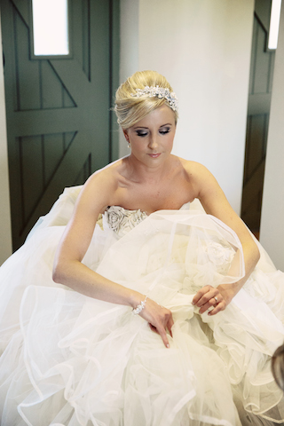 Striking bridal hair and makeup