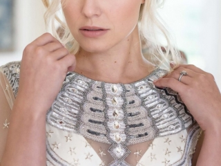 Relaxed wedding hair and makeup